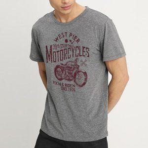 Izod Motorcycle Graphic T Shirt Mens XL